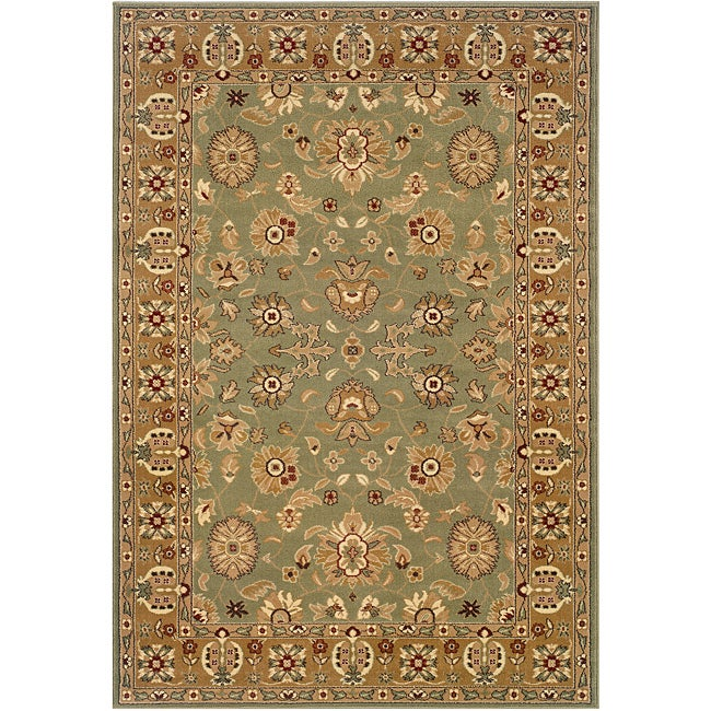 LNR Home Adana Green/ Gold Oriental Runner Rug (1'9 X 6'9
