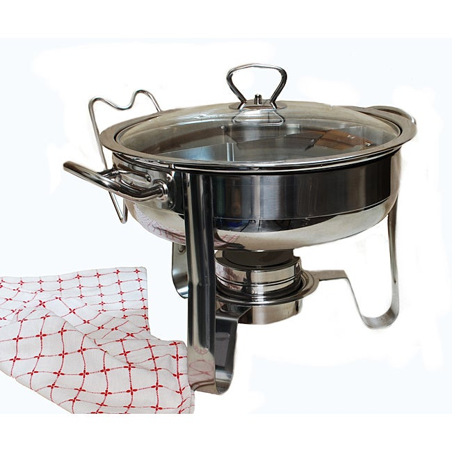 4QT Stainless Steel Chafing Dish With New Duo Section