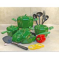 Green Bell Pepper Cookware Set 13 Piece