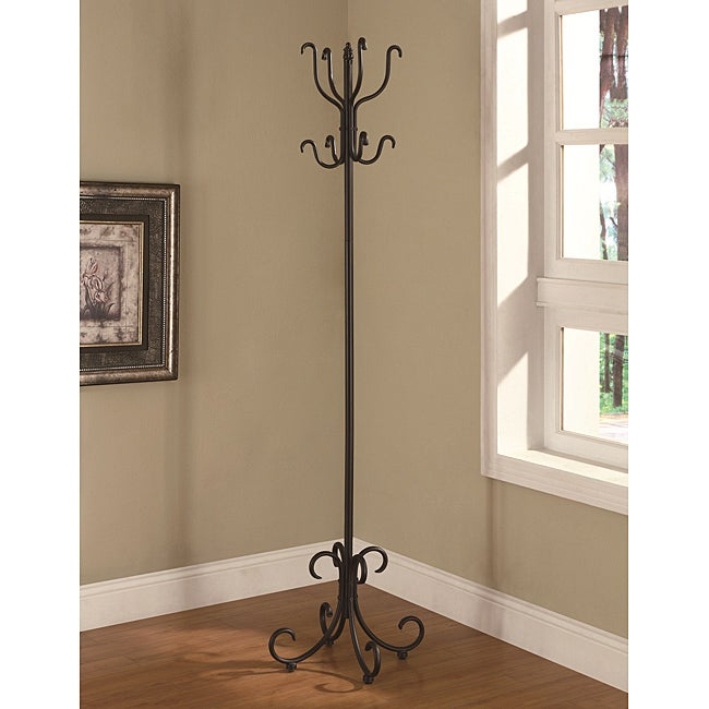 Black Finish Metal Coat Rack - Thumbnail 0