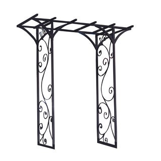 Panacea Black Garden Arbor With Vines