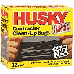 Husky Contractor Clean-Up Bags - 32 Count ( 42-Gallon )