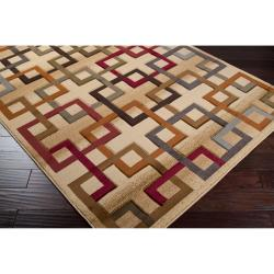 Meticulously Woven Earley Multi Colored Squares Geometric Rug (7'10 x 10') - Thumbnail 1