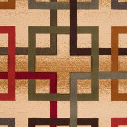 Meticulously Woven Earley Multi Colored Squares Geometric Rug (7'10 x 10') - Thumbnail 2