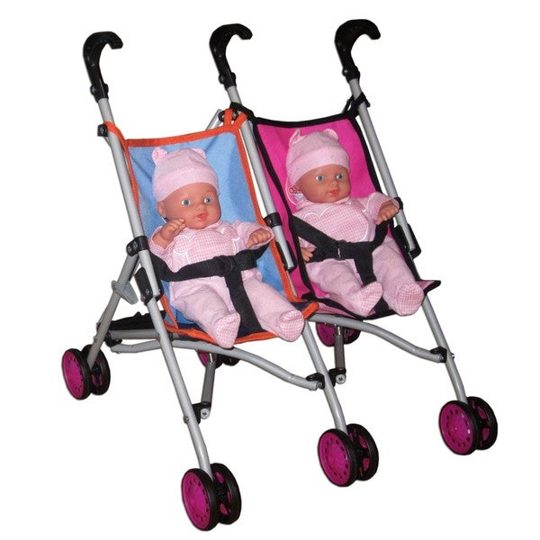 Twin Stroller With 2 14 Quot Dolls Free Shipping On Orders