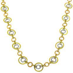 Fremada 14k Tri-color Gold Circles of Light Necklace