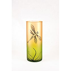Dragon Fly Series Mouth-Blown Glass Vase