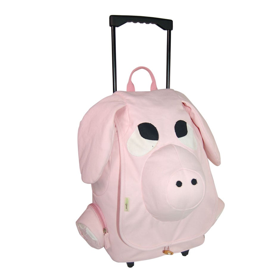 EcoGear EcoZoo Children's Natural-cotton-canvas Rolling Pig Backpack