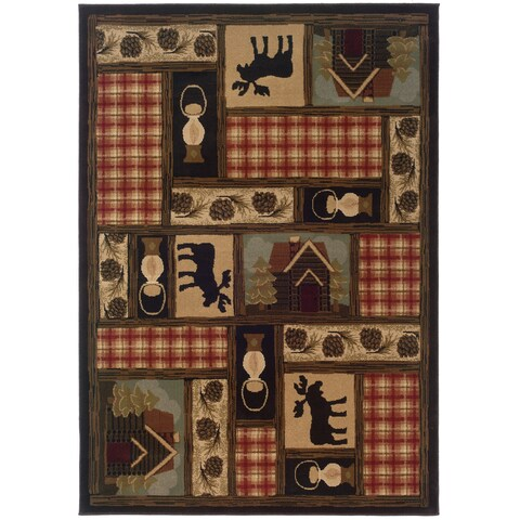 Brown/Red Traditional Area Rug (10' x 13') - 10' x 13'