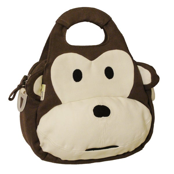 EcoGear EcoZoo Cotton Monkey Lunch Tote with Adjustable Strap