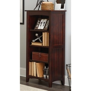 Fair Haven 48-inch Charcoal Grey Wood Bookcase