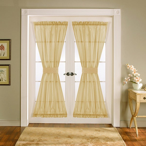 Lush Decor Taupe 72-inch Sonora Door Panels (Set of 2)