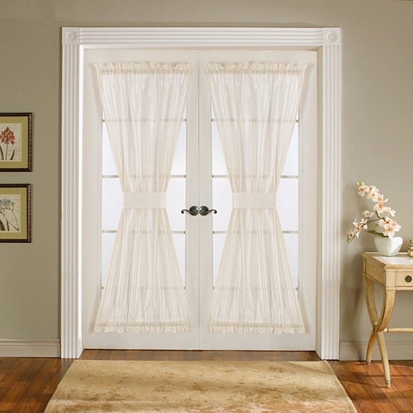 Lush decor ivory 72 inch sonora door curtain panel pair for Home decor 72