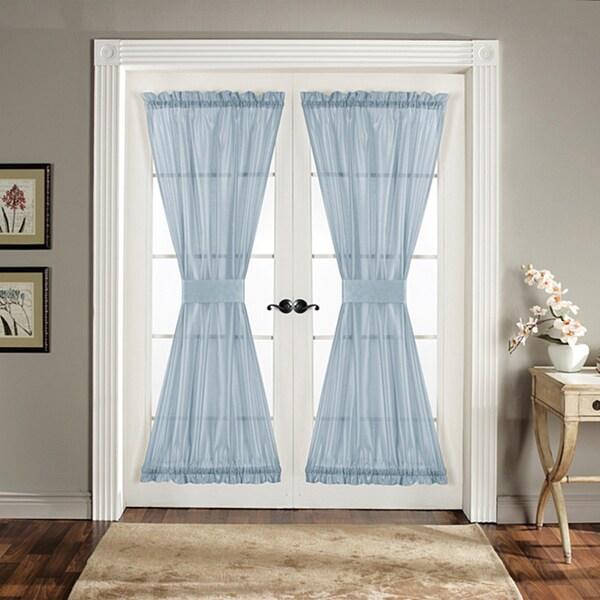 Lush Decor Blue 72-inch Sonora Door Panels (Set of 2)