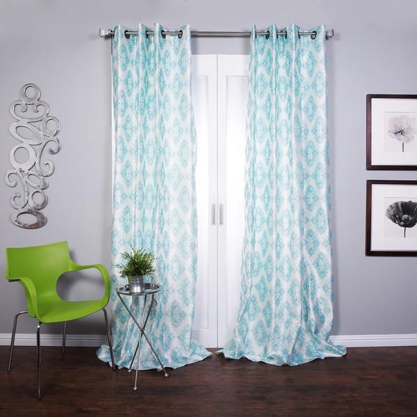 Zarya Grommet Flocked Curtain Panel