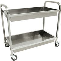 "Bayou Classic Stainless Steel Serving Cart - 30""h x 35""w x 19""d"
