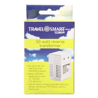 Travel Smart 50-watt Reverse Transformer