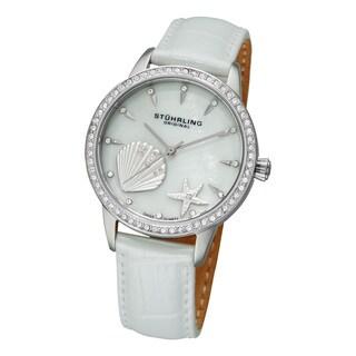 Stuhrling Original Women's Verona La Playa Swiss Quartz Watch - White