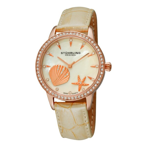 Stuhrling Original Women's Verona La Playa Swiss Quartz Watch - Beige