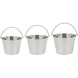 Bayou Classic Stainless Beverage/Ice Bucket 3-piece Set