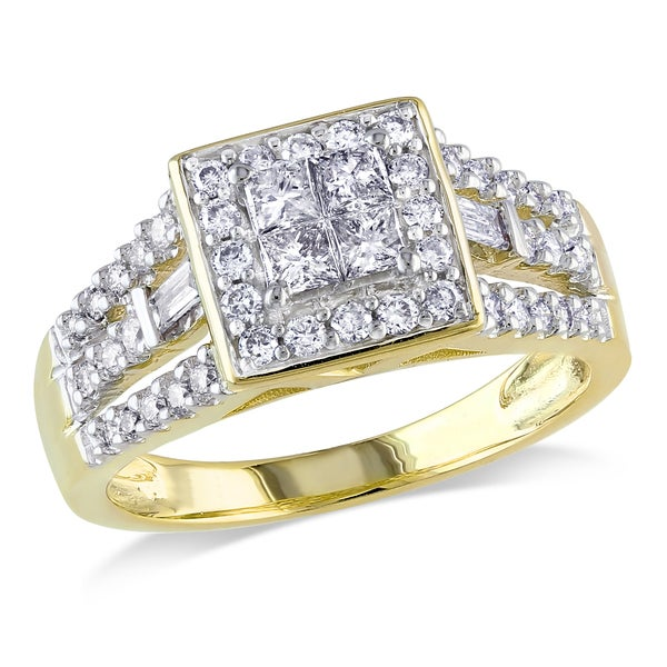 Miadora 14k Yellow Gold 3/4ct TDW Diamond Ring (G-H, I1)