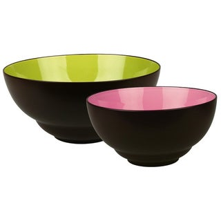 Waechtersbach Duo Mint & Fuchsia Serving Bowls (Set of 2)