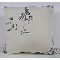 Diva Ivory Decorative Pillow - Thumbnail 0