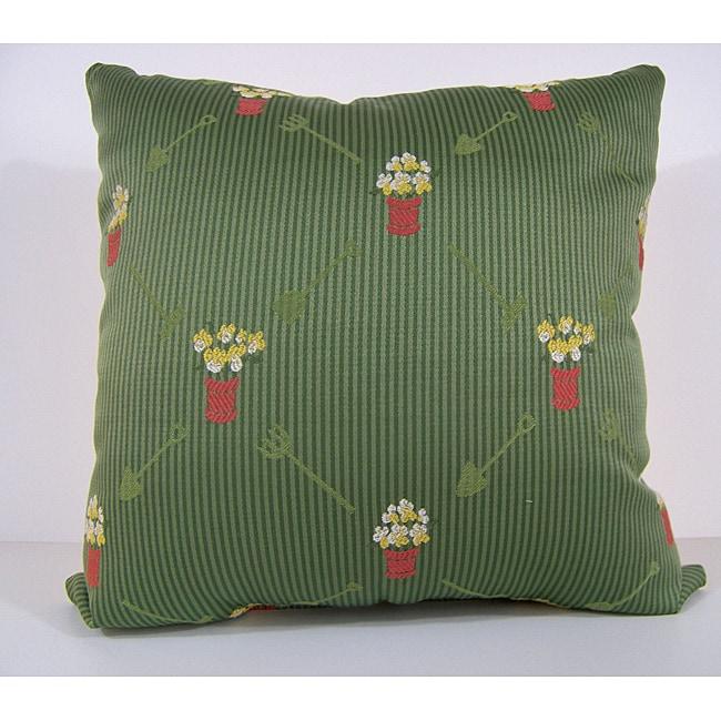 Gardenia Green Decorative Pillow