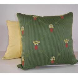 Gardenia Green Decorative Pillow - Thumbnail 1