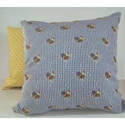 Henny Penny Blue Decorative Pillow