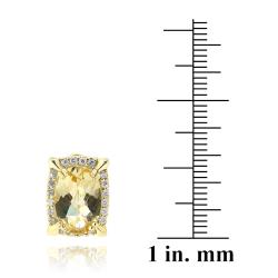 Glitzy Rocks 18k Goldplated Citrine and Cubic Zirconia Earrings (6.2ct TGW)