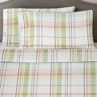 Solid or Print Cotton Heavyweight Flannel Deep Pocket Sheet Set (More options available)