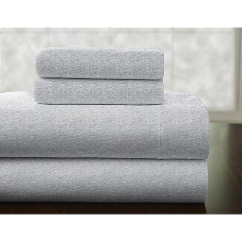 Solid or Print Cotton Heavyweight Flannel Bed Sheet Set
