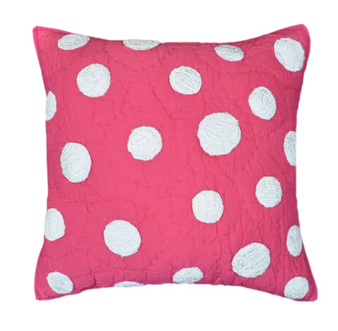 Laila Hot Pink With Dots Decorative Pillow