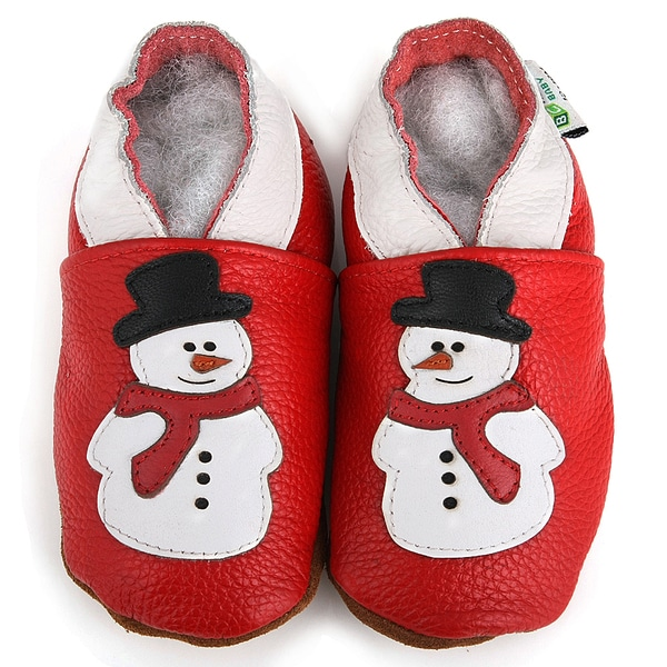 dddac4ac7 Shop Snowman Soft Sole Leather Slip-On Baby Shoes - Ships To Canada ...