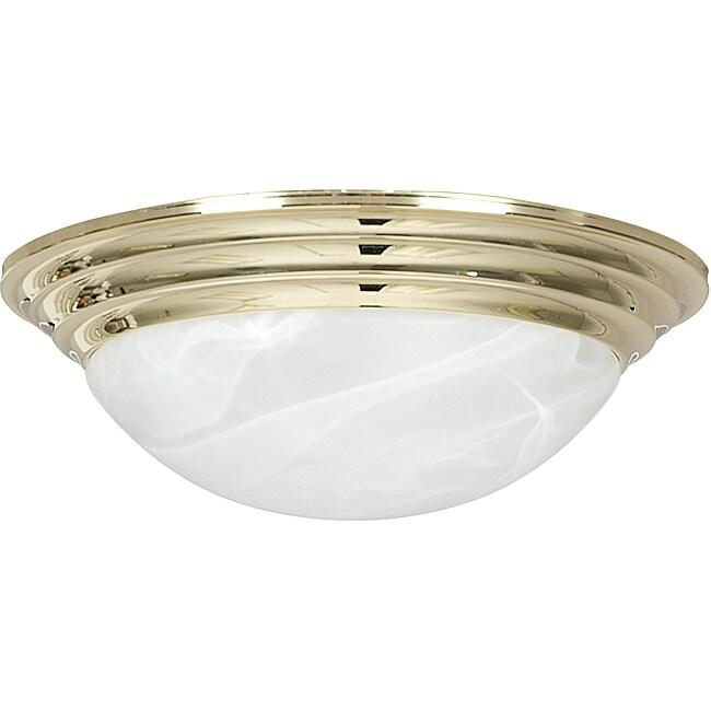 Polished Brass Two Light Flush Mount