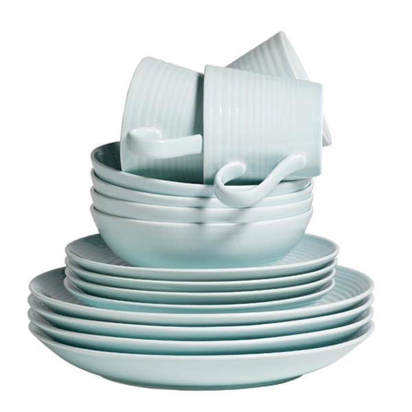 Gordon Ramsay by Royal Doulton Maze Blue 16-piece Dinnerware Set (Service for 4)