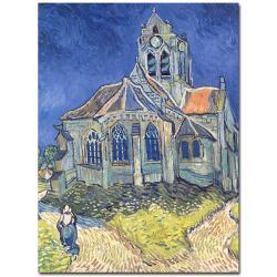 Vincent van Gogh, 'Church at Auvers-sur-Oise, 1890' Art