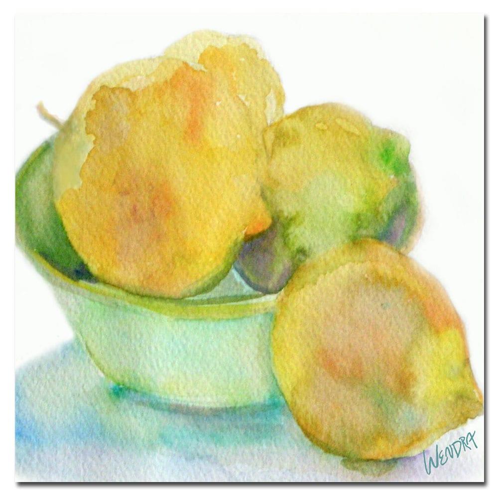 Wendra, 'Lemona' Canvas Art