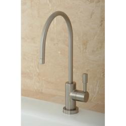 Contemporary Satin Nickel Single-handle Water Filter Faucet