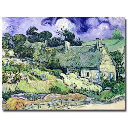 Vincent van Gogh, 'Cottages at  Auvers-sur-Oise' Canvas Art