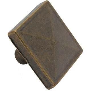 GlideRite 1.125-inch Antique Brass Square Pyramid Cabinet Knobs (Pack of 25)
