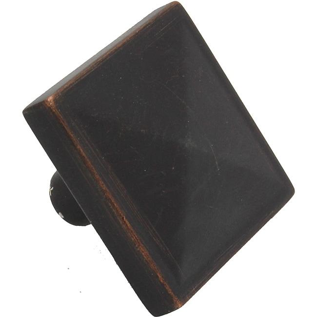 Overstock Kitchen Cabinet Hardware: GlideRite 1.125-inch Oil Rubbed Bronze Square Pyramid
