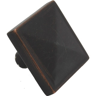 GlideRite 1.125-inch Oil Rubbed Bronze Square Pyramid Cabinet Knobs (Pack of 25)