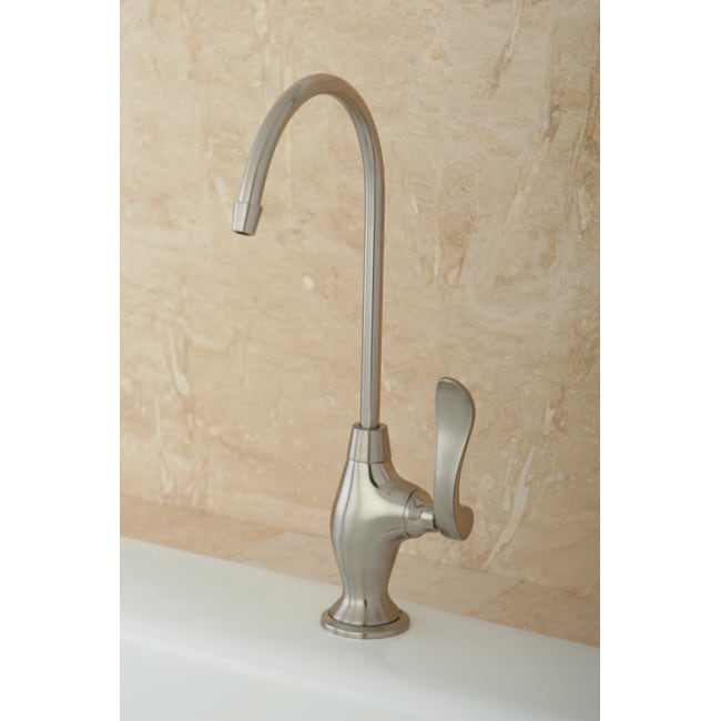 Designer Solid Brass Satin Nickel Single-handle Water Filtration Faucet