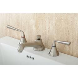 Modern Satin Nickel Widespread Bathroom Faucet