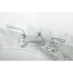 Chrome Widespread Bathroom Faucet with Lever Handles