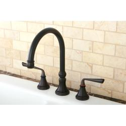 Oil Rubbed Bronze 3-hole Kitchen Faucet