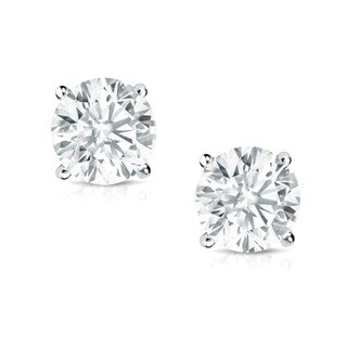 14k Gold 1/2ct TDW Round Diamond Stud Earrings