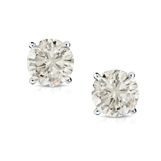Auriya 14k Gold 1 1/2ct TDW Round Diamond Stud Earrings (J-K, I2-I3)